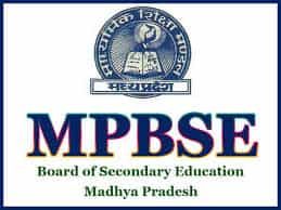 MPBSE Time Table