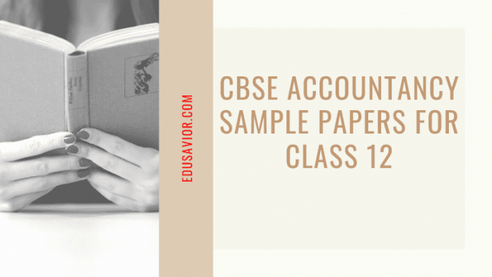 CBSE Accountancy sample paper