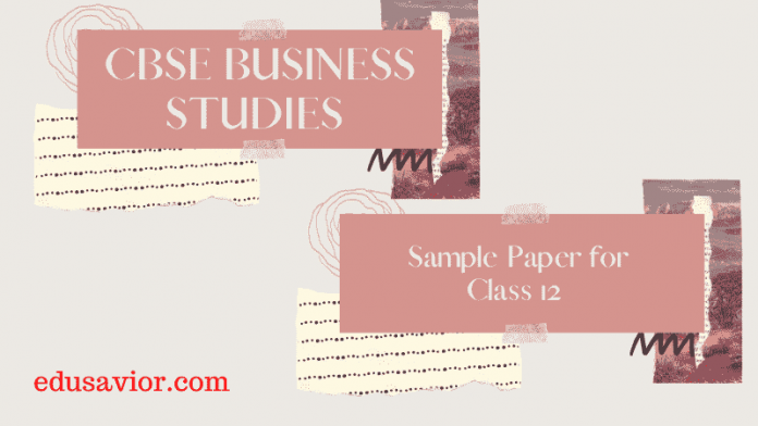CBSE Business Studies sample papers