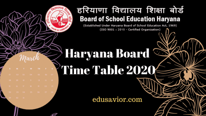 HBSE Haryana board 12th Result 2020 released