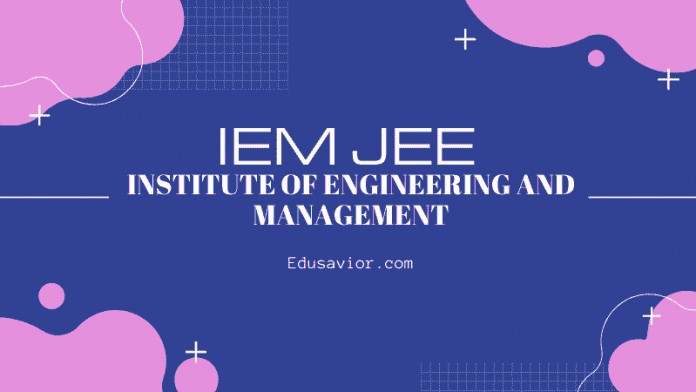 IEM JEE Institute of Engineering and Management