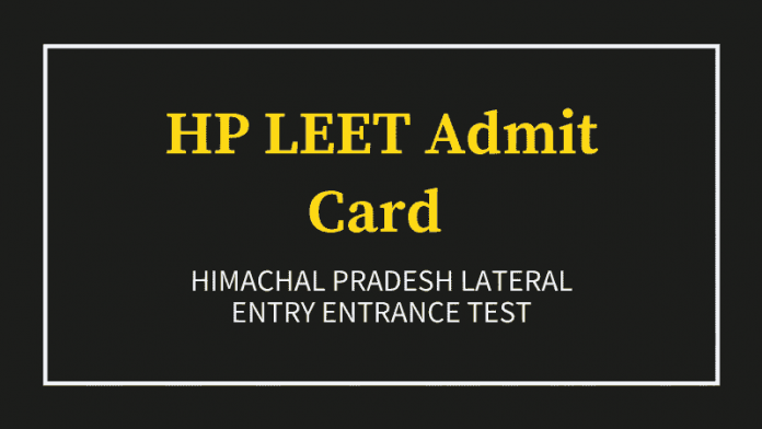 HP LEET Admit Card 2020