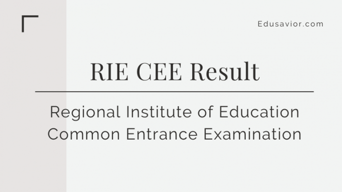 RIE CEE Result 2020