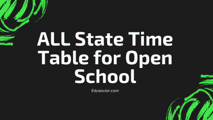 State Open Board Time Table