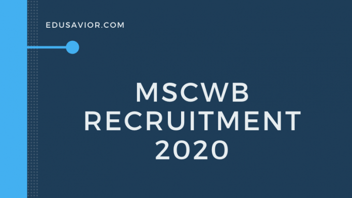 MSCWB Recruitment